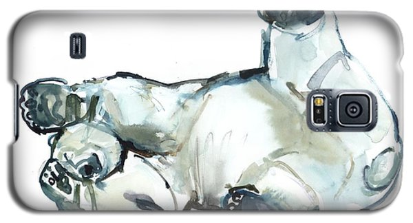 Bear Galaxy S5 Case - Snow Rub by Mark Adlington