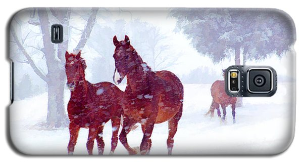 Snow Run Galaxy S5 Case