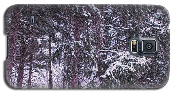 Galaxy S5 Case featuring the photograph Snow Storm On Pines by Sandy Moulder