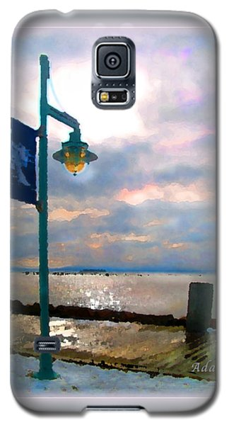 Galaxy S5 Case featuring the photograph Snow Waterfront Park Walk by Felipe Adan Lerma