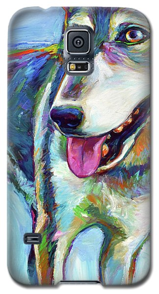 Galaxy S5 Case featuring the painting Snow Wolf by Robert Phelps