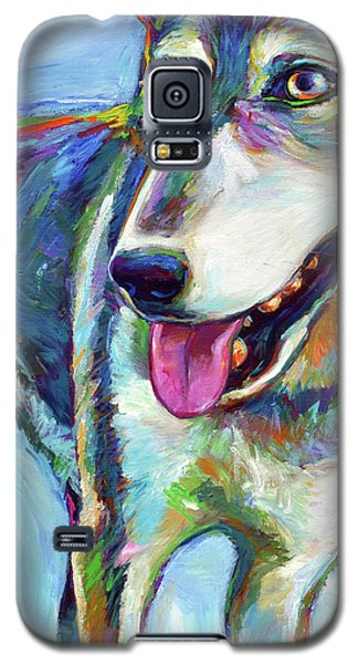 Snow Wolf Galaxy S5 Case by Robert Phelps