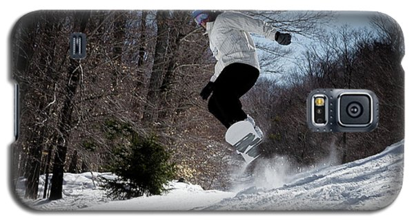 Galaxy S5 Case featuring the photograph Snowboarding Mccauley Mountain by David Patterson
