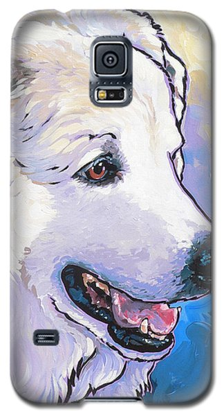 Galaxy S5 Case featuring the painting Snowdoggie by Nadi Spencer