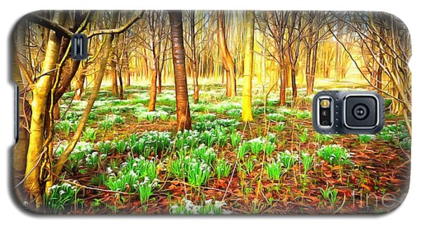 Snowdrops In The Woods Galaxy S5 Case by Mick Flynn