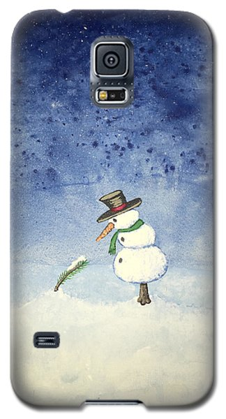 Galaxy S5 Case featuring the painting Snowfall by Antonio Romero