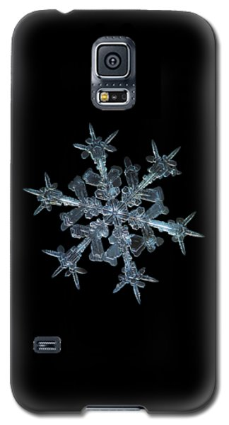 Galaxy S5 Case featuring the photograph Snowflake Photo - Starlight by Alexey Kljatov
