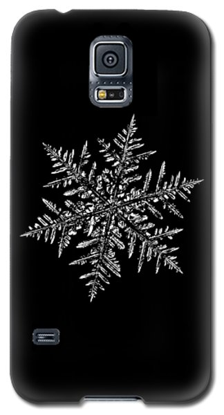 Snowflake Vector - Silverware Black Galaxy S5 Case