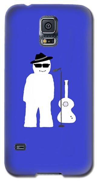Galaxy S5 Case featuring the digital art Snowman Musician by Barbara Moignard