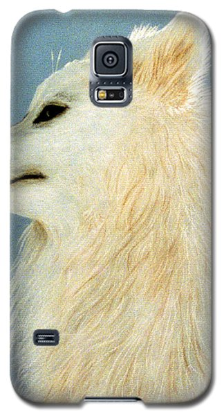 Galaxy S5 Case featuring the pastel Snowman The Samoyed by Jan Amiss
