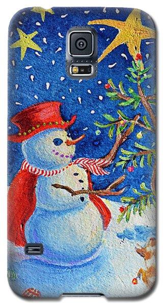 Snowmas Christmas Galaxy S5 Case by Li Newton