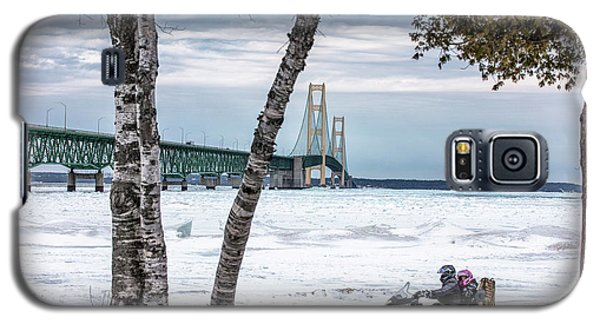 Galaxy S5 Case featuring the photograph Snowmobile Michigan  by John McGraw