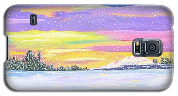 Galaxy S5 Case featuring the painting Snowstorm by Phyllis Kaltenbach