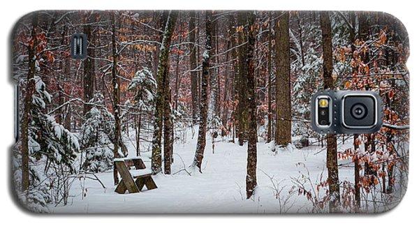 Snowy Bench Galaxy S5 Case