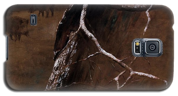 Snowy Branch With Wild Boars Galaxy S5 Case