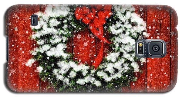 Snowy Christmas Wreath Galaxy S5 Case
