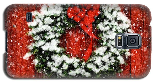 Snowy Christmas Wreath Galaxy S5 Case