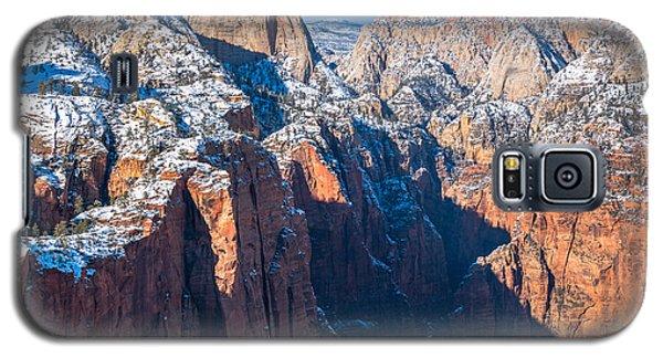 Snowy Cliffs Of Zion National Park Galaxy S5 Case