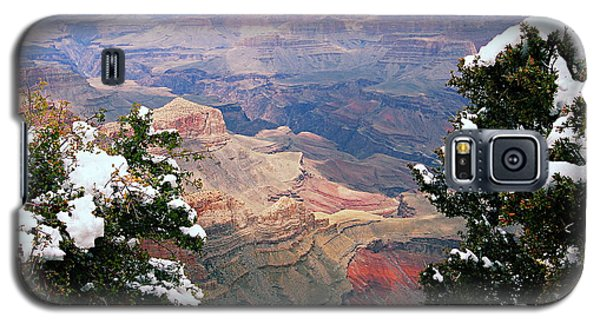 Snowy Dropoff - Grand Canyon Galaxy S5 Case by Larry Ricker
