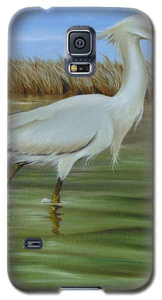 Galaxy S5 Case featuring the painting Snowy Egret 1 by Phyllis Beiser