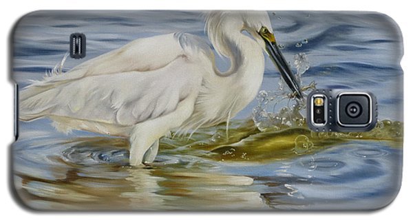 Snowy Egret Hunting Shrimp Galaxy S5 Case