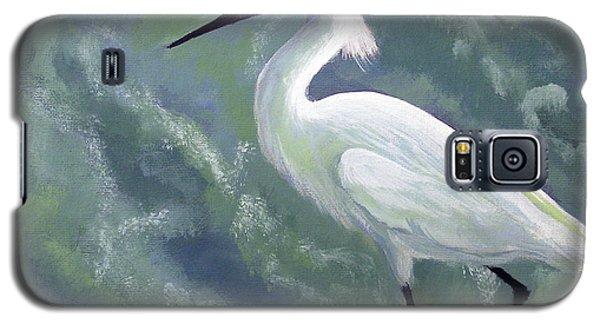 Snowy Egret In Water Galaxy S5 Case