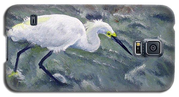 Snowy Egret Near Jetty Rock Galaxy S5 Case