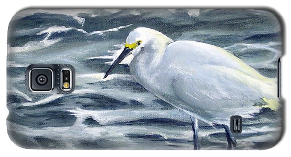 Snowy Egret On Jetty Rock Galaxy S5 Case