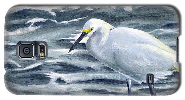 Snowy Egret On Jetty Rock Galaxy S5 Case