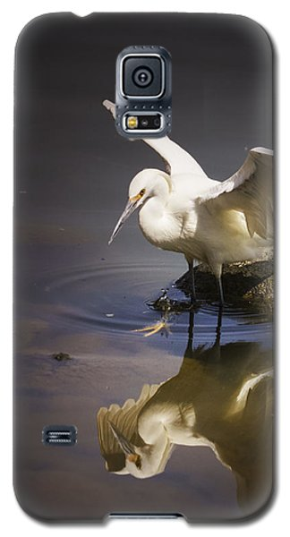 Snowy Egret Reflection Galaxy S5 Case by Janis Knight