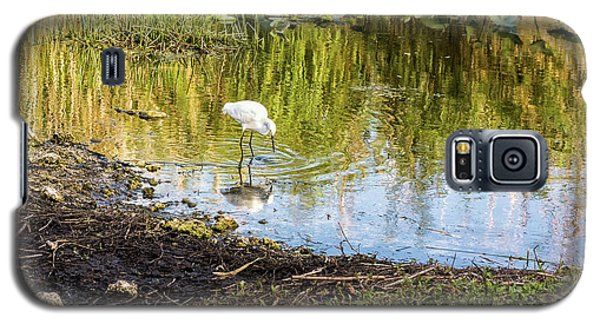Snowy Egret Reflections Galaxy S5 Case