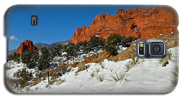 Galaxy S5 Case featuring the photograph Snowy Fields At Garden Of The Gods by Adam Jewell