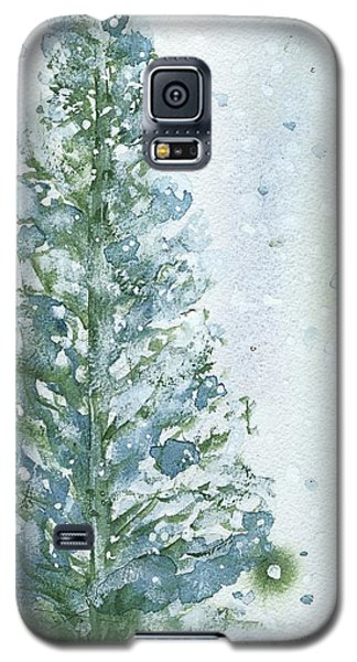 Galaxy S5 Case featuring the painting Snowy Fir Tree by Dawn Derman