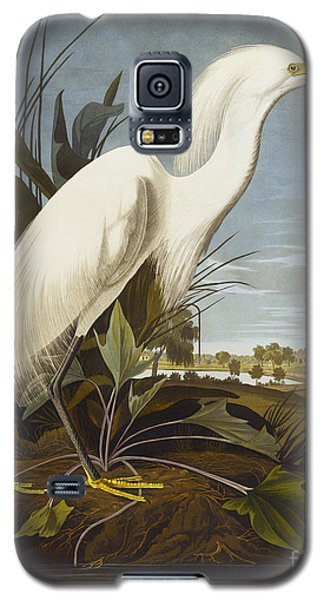 Audubon Galaxy S5 Case - Snowy Heron by John James Audubon
