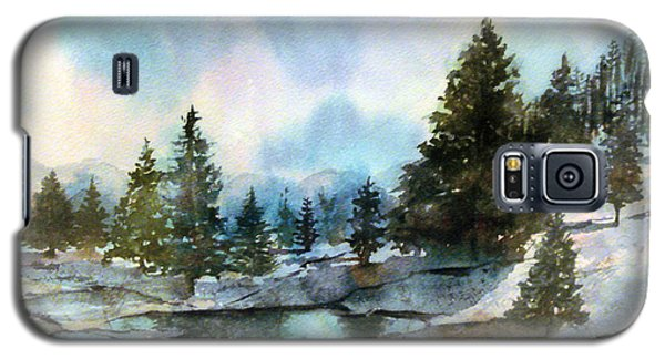 Snowy Lake Reflections Galaxy S5 Case