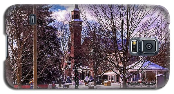Snowy Old Town Hall Galaxy S5 Case