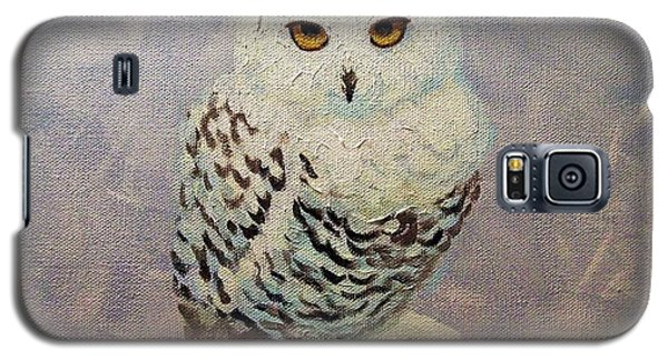 Snowy Owl Galaxy S5 Case by Janet McDonald