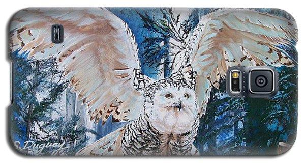 Snowy Owl On Takeoff  Galaxy S5 Case