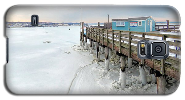 Snowy Pier Boots Galaxy S5 Case