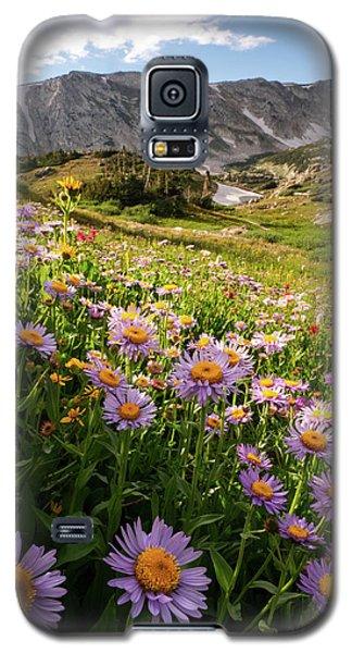 Snowy Range Flowers Galaxy S5 Case