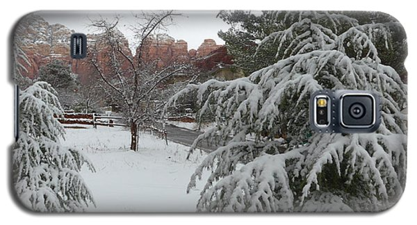 Snowy Sedona Red Rocks Galaxy S5 Case