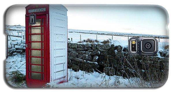 Snowy Telephone Box Galaxy S5 Case