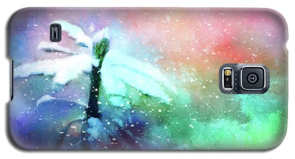 Snowy Winter Abstract Galaxy S5 Case