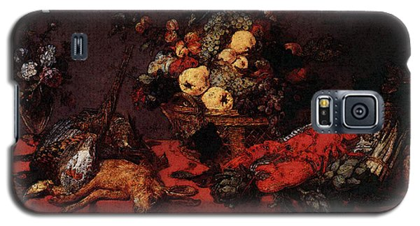 Snyders Frans Still Life With A Basket Of Fruit Galaxy S5 Case by Frans Snyders
