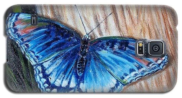 Galaxy S5 Case featuring the painting So Blue by Bonnie Heather