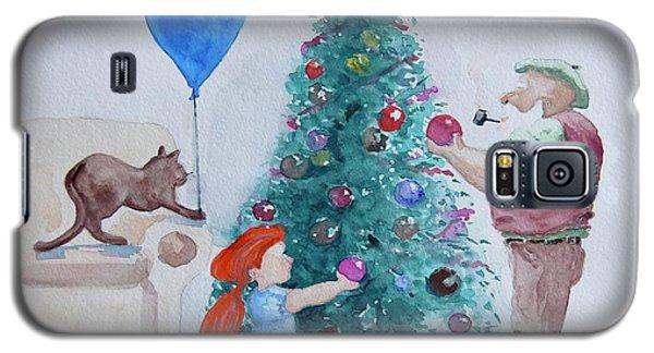 Galaxy S5 Case featuring the painting So Pretty Grandpa by Geni Gorani