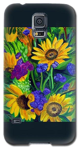Sunflowers -soaking Up Sunshine Galaxy S5 Case by Julie Brugh Riffey
