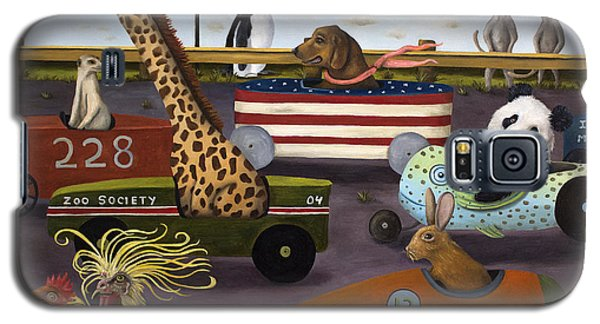 Meerkat Galaxy S5 Case - Soap Box Derby by Leah Saulnier The Painting Maniac