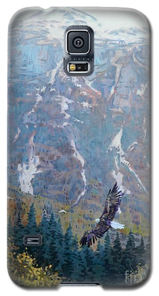 Galaxy S5 Case featuring the painting Soaring Eagle by Donald Maier