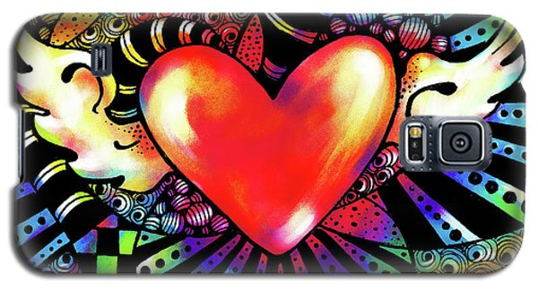 Soaring Heart Coloration Galaxy S5 Case